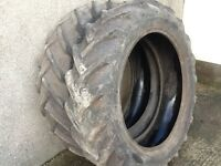 TRACTOR TYRES 12.4/32 (11/32) GOODYEAR TRACTION SURE GRIPS £125 FOR BOTH TYRES