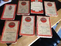 Vintage ordnance survey maps X 7