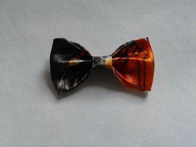 Orange Camo Bowtie Ring bearer Bow tie Clip on Wedding Groomsmen Gift