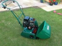 Qualcast CPM35 petrol cylinder lawnmower. Excellent condition. Minor scratchesexcellent cut