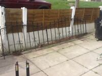 Cast iron railings approx 12ft long by 3ft high £40