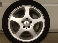 17INCH 5/112 MERCEDEZ ALLOY WHEELS WITH TYRES