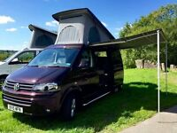 VW T30 140BHP Highline Camper van Blackberry excellent condition professionally converted. Warranty