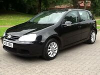 2008 58 VW GOLF 1.9 TDi *TURBO DIESEL*MATCH,76000 MILES 8 SERVICE STAMPS**AIR CON,ALLOYS,MET BLACK