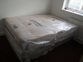 DOUBLE DIVAN ORTHOPEDIC BED WITH MATTRESS BACK CARE FREE LOCAL DELIVERY