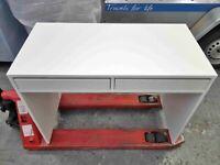 Fully Assembled Pepper 2 Drawer Desk - White