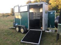 IFOR Williams HB505 Green Horse Trailer - Aluminium Floor