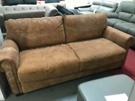 DFS ranch leather outback 3 seater sofa bed