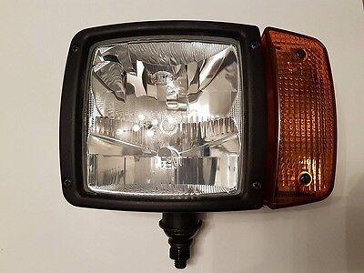 Hella H7/H3 Scheinwerfer Anbauscheinwerfer für Atlas Claas Kramer Volvo (Links)