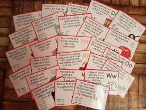 Jolly Action Phonics Cards - Nursery / Starting school - Letter recogniton
