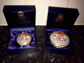 Royal Worcester Happy Anniversary limited edition Pill Box Set