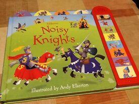 Noisy Knights, Usborne sound book. Children books