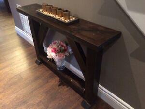Custom Rustic Hall and Sofa Tables