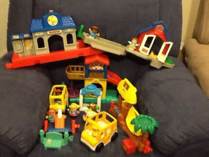 Fisher Price Little People Playground/School Set with extras Rothwell Redcliffe Area Preview