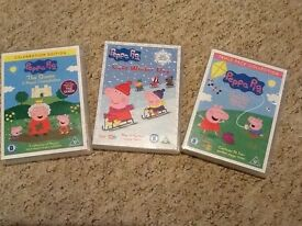Peppa Pig DVD's and book
