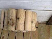 New wooden log roll