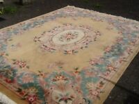 """Premium quality superb 100% wool rug in extremely clean condition 247cm x360cm(8'2"""" x11'10.5"""")"""