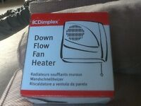 Brand new Dimplex down flow fan heater 2000w in box