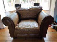 Vintage brown leather armchair