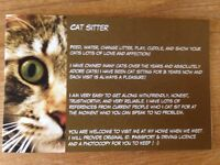 Cat Sitting Services North and East London - Friendly,reliable cat lover :)
