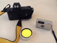 Camera Equipment - Nikon N4004 body, Canon Elph 2 and filter