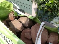 Cheshire Red Sandstone Approximately 2 tonnes .Ready bagged for ease of transport.