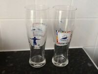 Glassware - 2 Collectible World Cup France 98 Pint glasses £4
