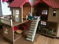 Sylvanion ouse with working lights also comes with furniture