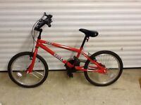 BMX TRAX Bike, flame red /orange suitable for 8 years +. Excellent condition.