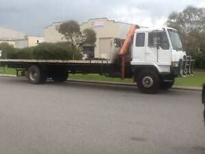 CRANE TRUCK 8 METRE FLAT TRAY Byford Serpentine Area Preview