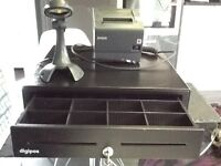 Till drawer, scanner and receipt printer