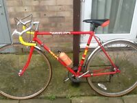 Vintage bike as light as a feather £45 27 wheel 21 frame 12 gears can deliver for petrol