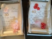Anniversary gift plaques