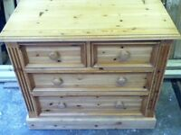 PINE FURNITURE CHEST OF DRAWERS FOR SALE , EXCELLENT QUALITY
