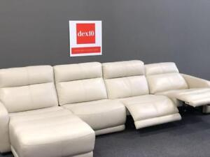 POWER RECLINING SECTIONAL - 50% off COSTCO.CA -TOPGRAIN LEATHER SOFA only @ dex10 openBOX