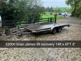 BRIAN JAMES CAR RECOVERY TRAILER - TILTING MODEL ONLY £2000