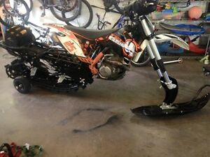 Ktm 450 sxf with timbersled ST 120