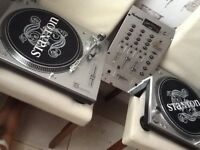 Numark mixer and Stanton x2 turntable
