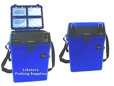 Blue Compact Seat and Tackle Box Carp Coarse anglers Sea Fishing Pike Match