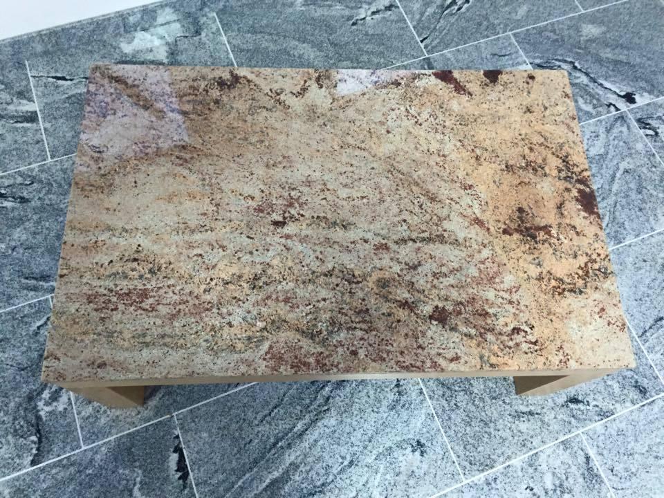 Marmortisch Tischgestell Buche Massiv Couchtisch