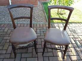 Vintage chairs ideal for upcycling project. £10 each.