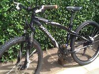 Specialized hardrock mountain bike with hydraulic brakes