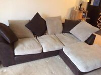 Corner sofa chair and footstall