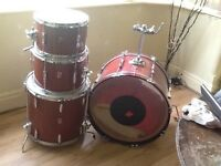 Old Premier Drum Kit with accessories
