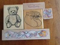 Selection of Baby Rubber Stamps