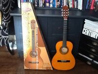 3/4 stag classic guitar with box and soft case - great condition