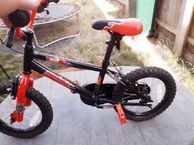 Boys flame bike