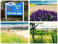 Sandy Bay Holiday Park Caravans For Sale with 2017 fees included low site fees NE63 9YD for SAT NAV