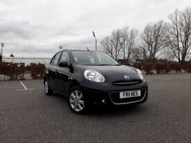 2013 NISSAN MICRA TEKNA 1.2 PETROL 5 DOOR AUTOMATIC - NEW MOT - HIGH SPEC - LOW MILEAGE