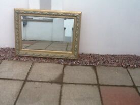 3ftx2ft mirror as shown in photograph in good condition hanging chain on back
